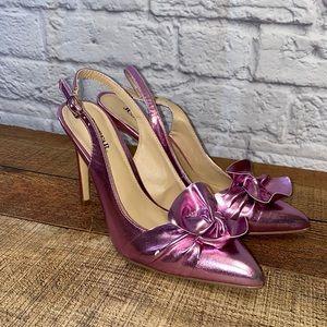 Shiny Pink Sexy Just Fab Justfab Heels 6.5